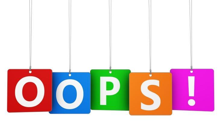 písmenka Oops z článku Airy - 5 vět z úst vašeho klienta, které spolehlivě odstřelí kvalitní SEO.