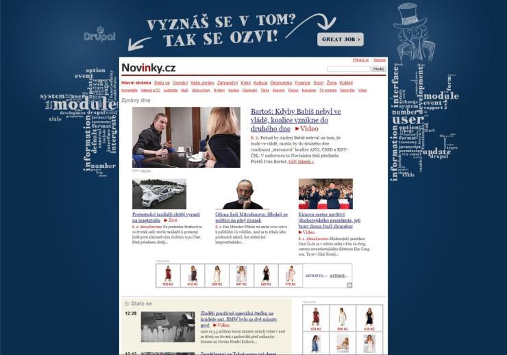 Příklad kreativní grafiky pro fullbranding na Seznamu.cz