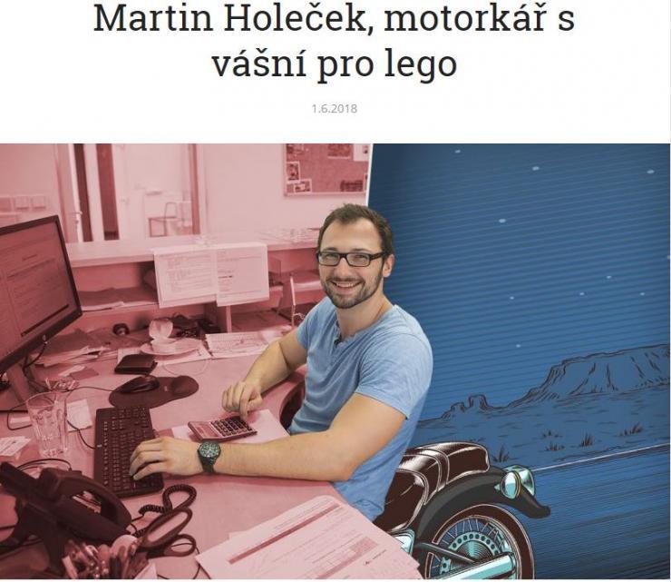Kreativní grafika pro článek Rozhovor s Martinem Holečkem z Van Leeuwen.