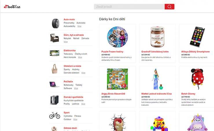Zboží.cz - vyhledávání produktové