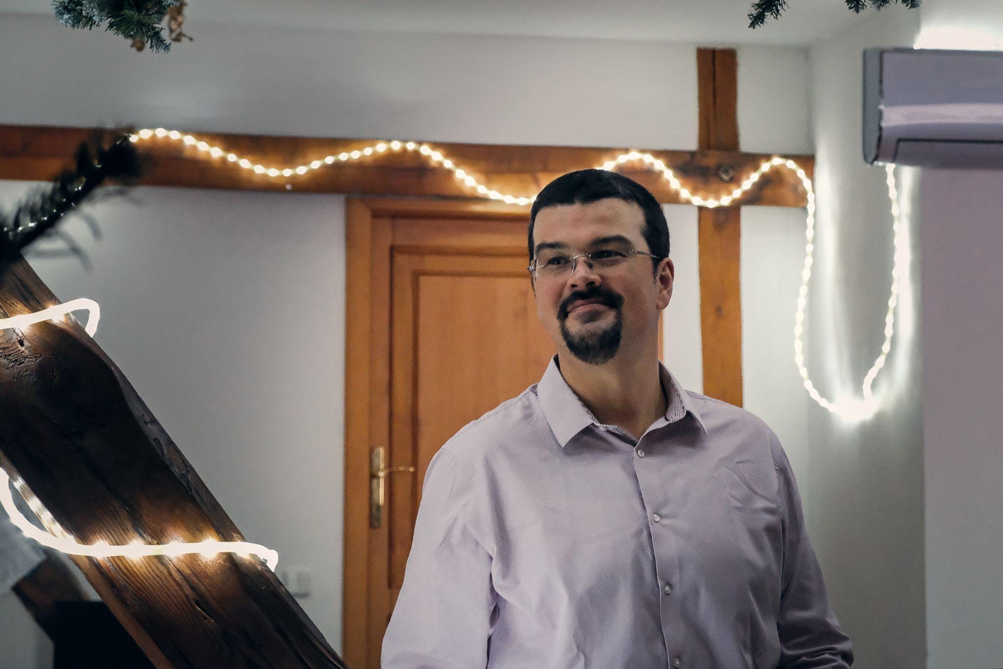 Petr Míka na vánočním večírku Aira 2019