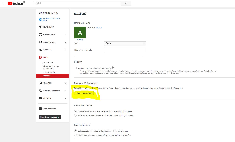 Jak napojit YouTube k Google Ads? Stačí sedm jednoduchých kroků