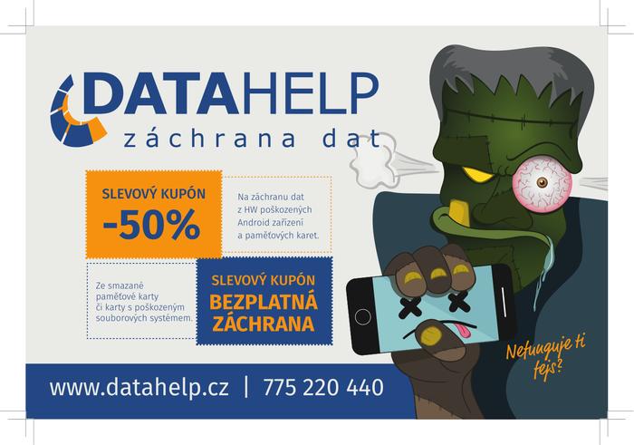 Finální verze reklamy DataHelpu pro časopis Applikace.