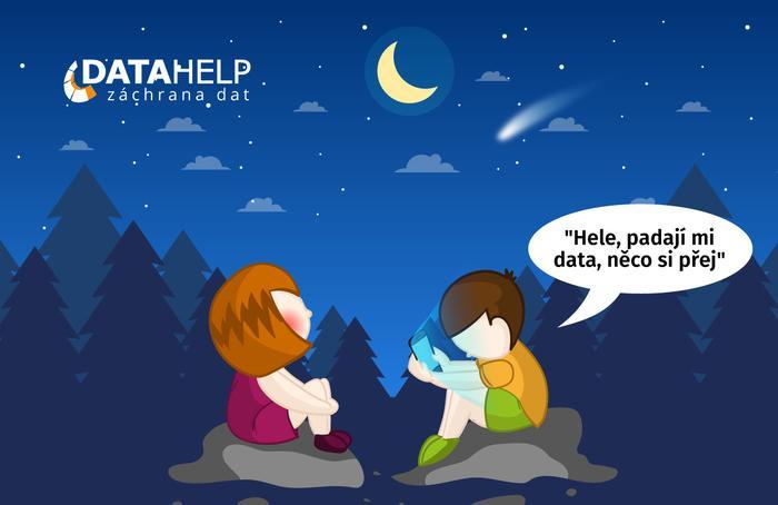 Kreativní reklama DataHelpu na FB profilu.