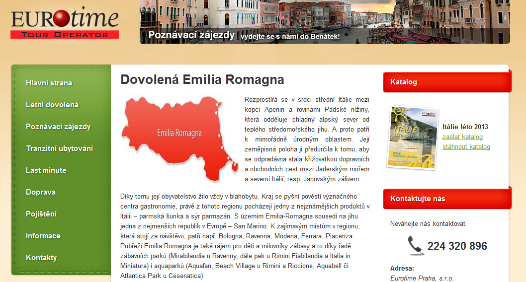 nový web Eurotime