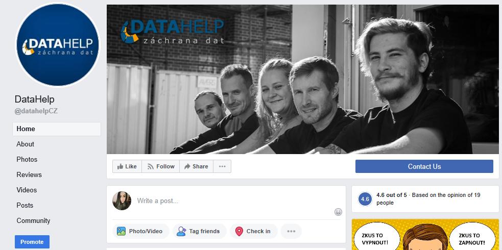 AIRA | firemní focení – obohacení obsahu sociální sítě DataHelp