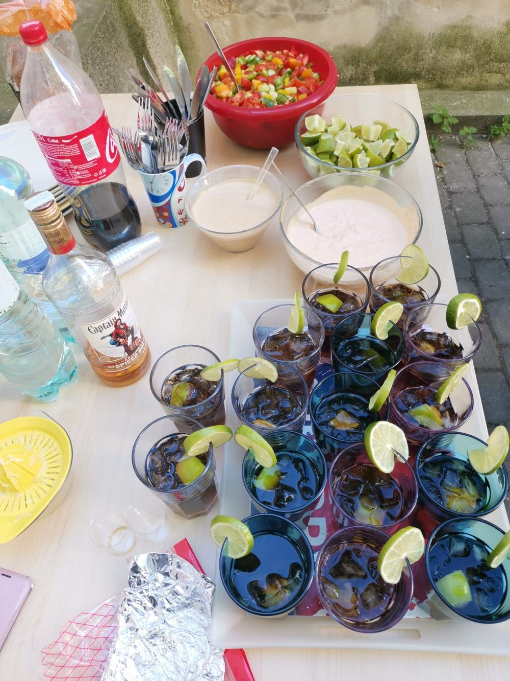 Welcome drinky na AIRA Karibské rum párty
