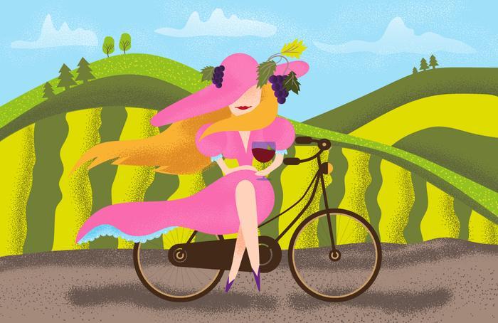 Titulní fotka pro článek 5 podzimních tipů, kam na dovolenou na kole po Evropě mezi vinicemi.
